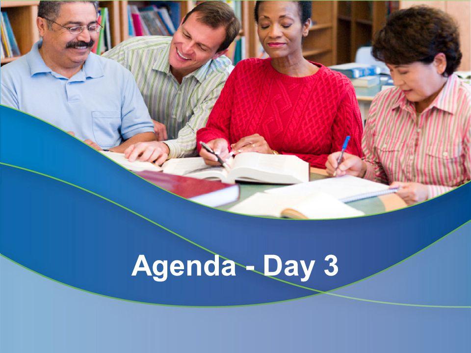 Agenda - Day 3