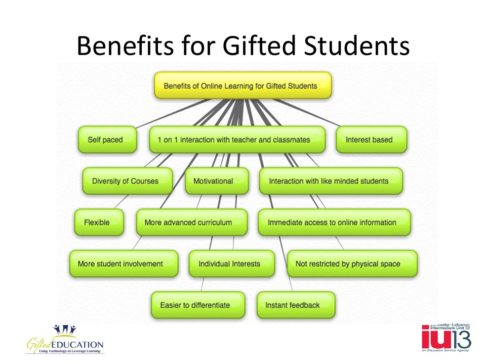 Benefits for Gifted Students