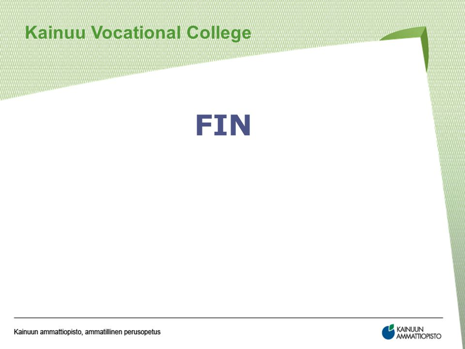 Kainuu Vocational College FIN