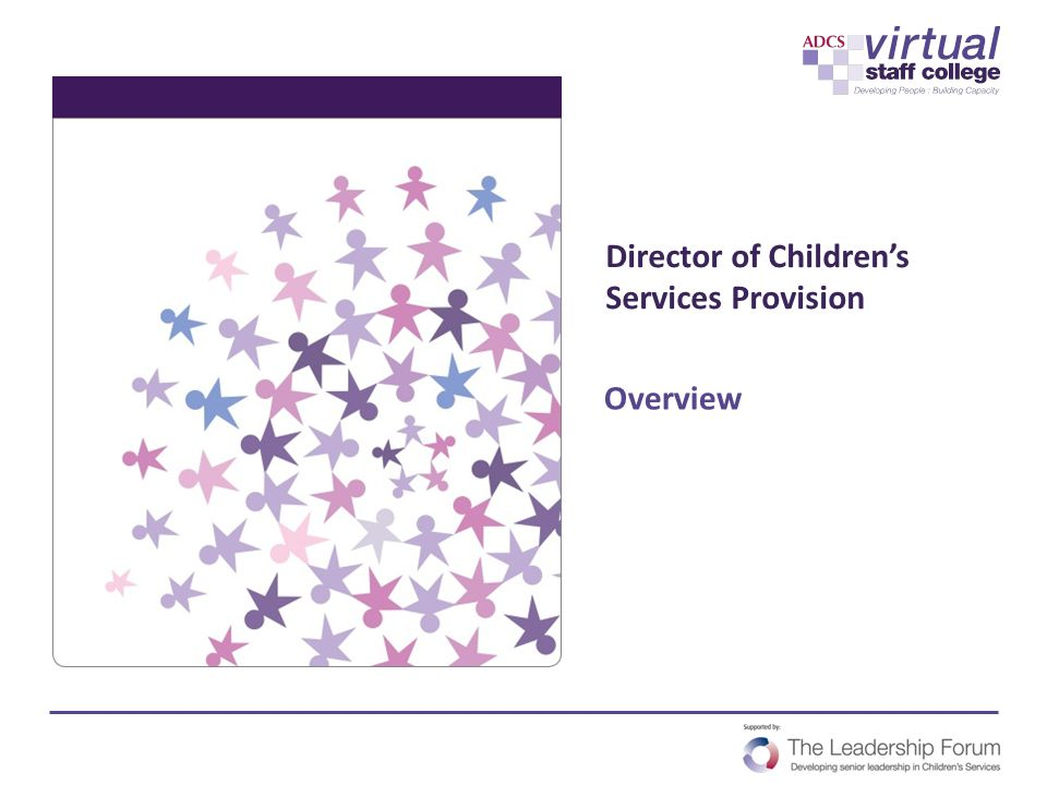 Director of Children's Services Provision Overview