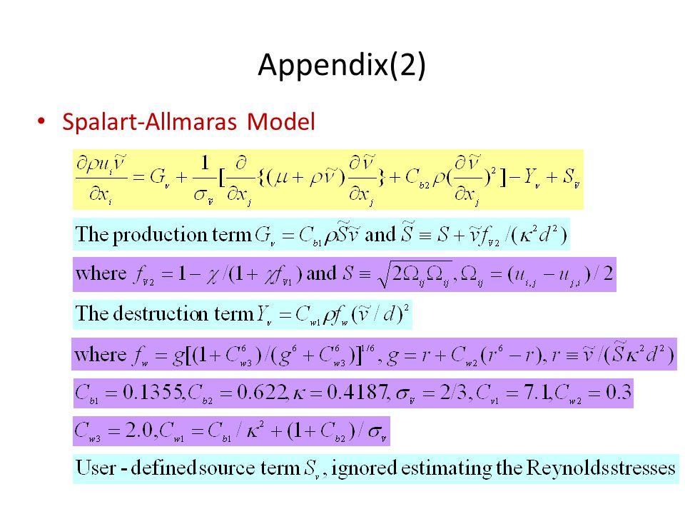 Appendix(2) Spalart-Allmaras Model