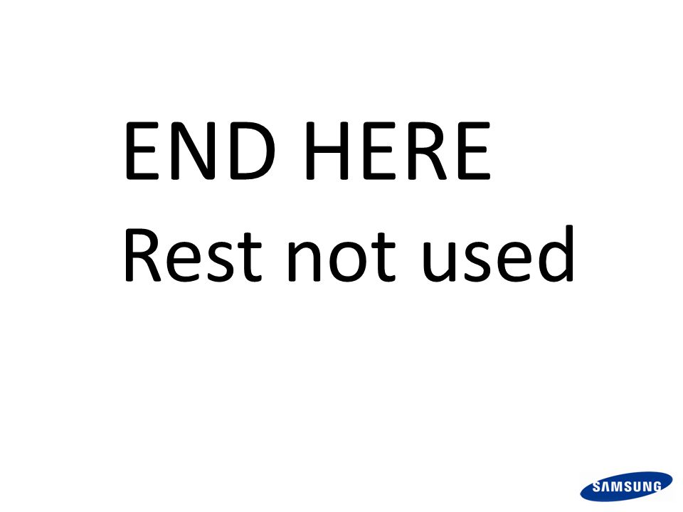 END HERE Rest not used
