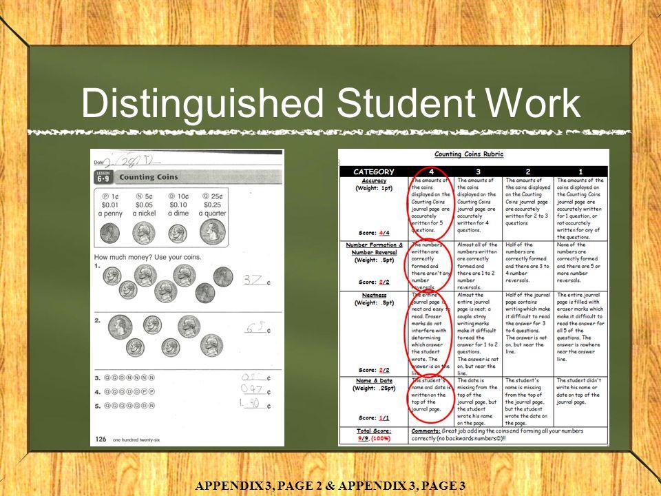 Distinguished Student Work APPENDIX 3, PAGE 2 & APPENDIX 3, PAGE 3