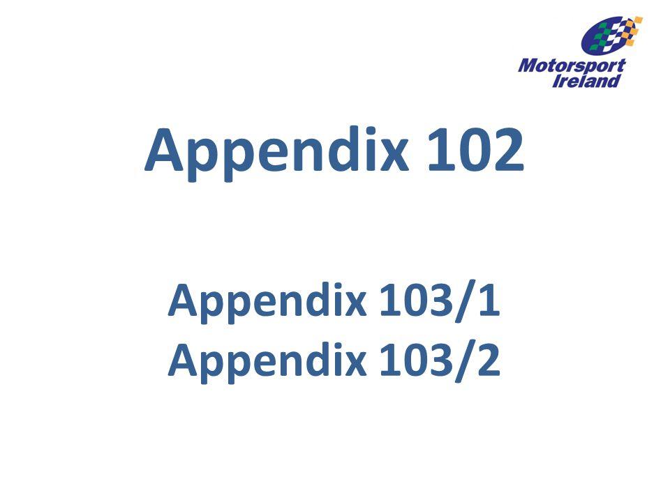 Appendix 102 Appendix 103/1 Appendix 103/2