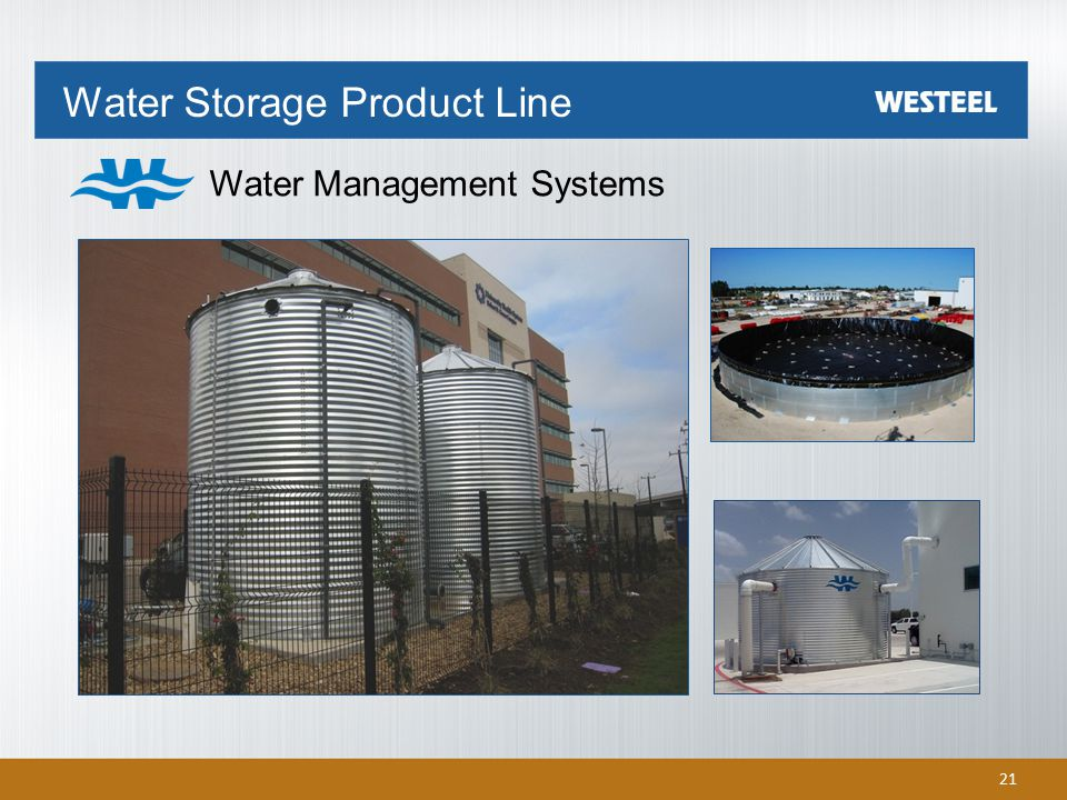 Water Storage Product Line Water Management Systems 21