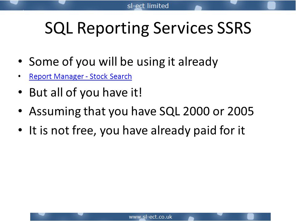 SQL Reporting Services SSRS Appendix – More Examples Supplier Spend per Product with expansion to see suppliers