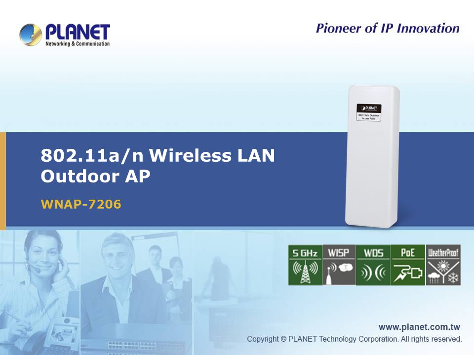 802.11a/n Wireless LAN Outdoor AP WNAP-7206