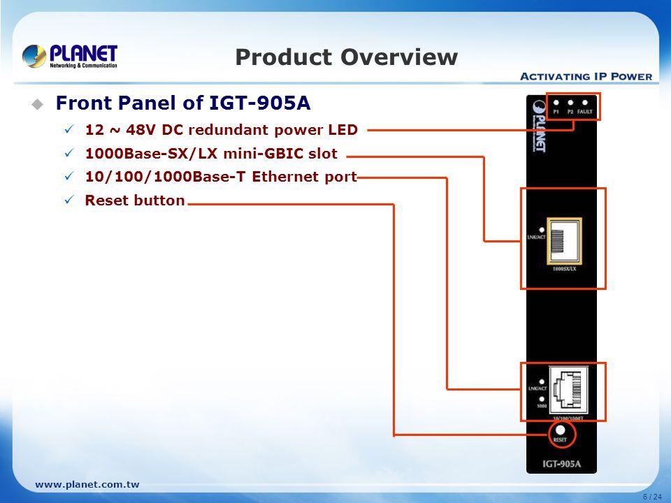 www.planet.com.tw Product Features 802.3ah Loop Back Test 1000Base-LX/SX Fiber Optical RJ-45 RJ-45 Loop Back Test Loop Back Test Reply Send 16 packets Packets Length 60 Reply 16 packets Packets Length 60