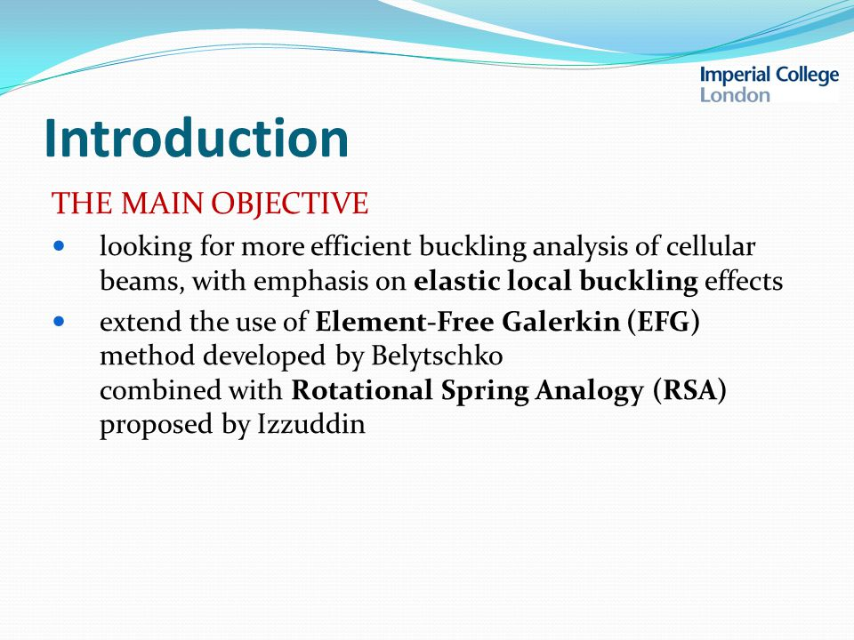 Introduction WHY EFG METHOD.1. can be easily applied to irregular domains 2.