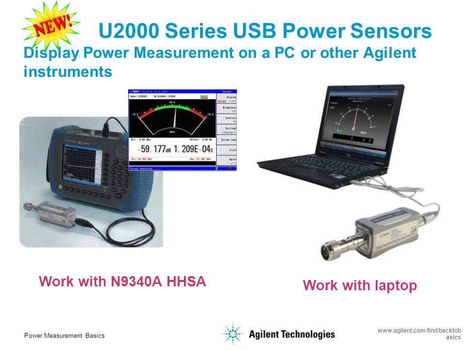 Power Measurement Basics www.agilent.com/find/backtob asics CCDF statistical analysis Pulse parameters analysis Max/Min Limit Test Data logging for 7 Days N1911/12A P- Series N8262A LXI power meter N1918A-100 Power Analysis Software U2000 USB power sensor Compatible with Power Analysis Manager Software N1918A-100 Multichannel measurements display