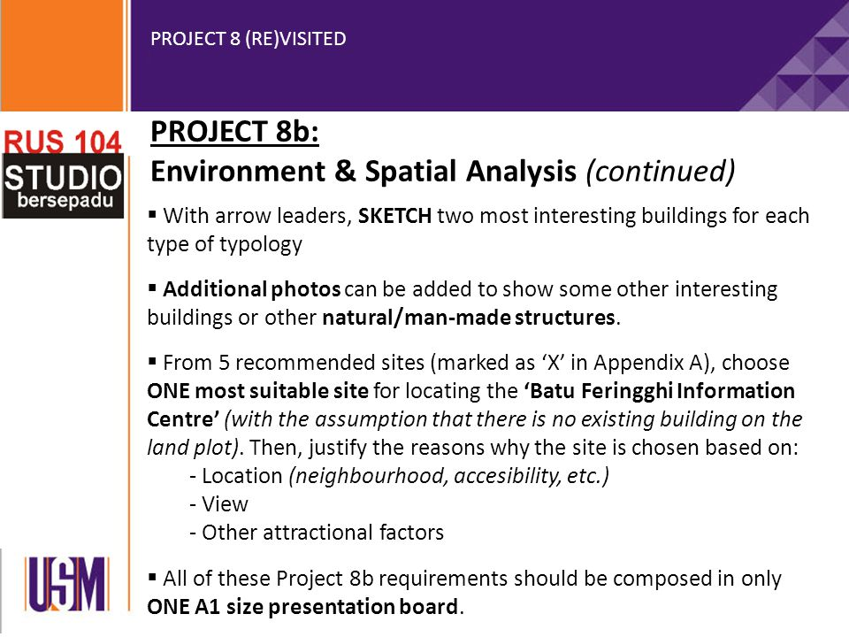 PROJECT 8 (RE)VISITED APPENDIX A (FOR PROJECT 8b) (5 recommended sites)