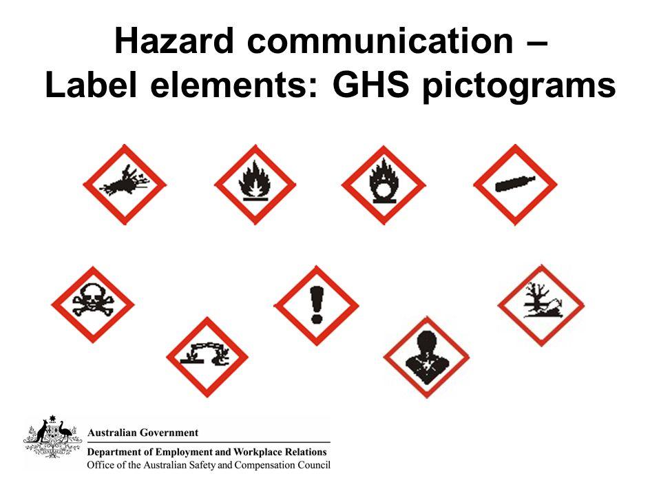 Hazard communication – Label elements: GHS pictograms