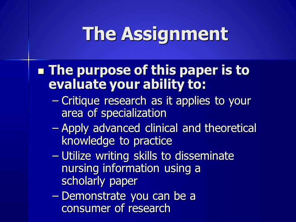 Critical Points Twenty (20) page paper not including title page, references, grid and appendices Twenty (20) page paper not including title page, references, grid and appendices Four exam options Four exam options –Research Proposal –Critical Literature Review –Problem-solving –White Paper