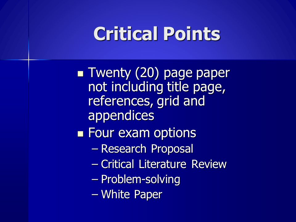 The Comprehensive Exam is Pass/Fail Total points available – 330 Total points available – 330 Points needed to pass - 231 Points needed to pass - 231 37
