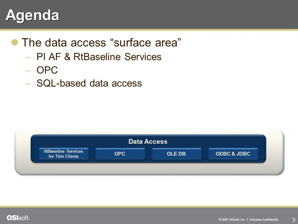 """3 © 2008 OSIsoft, Inc. 