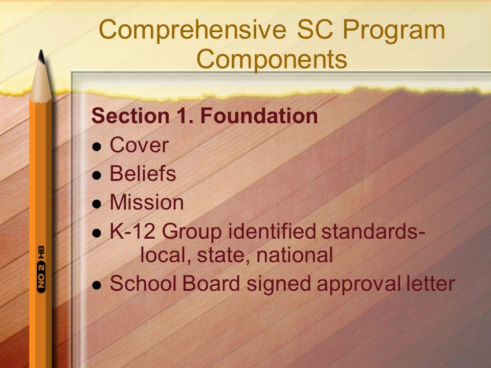 Comprehensive SC Program Components Section 1.
