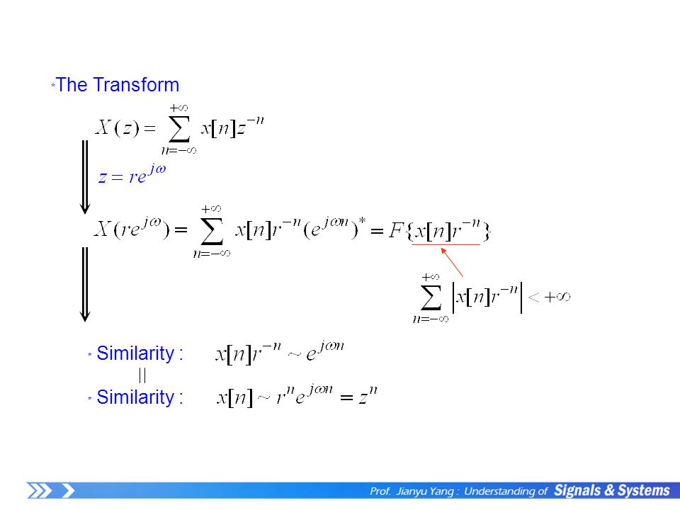 ﹡ The Transform ﹡ Similarity :