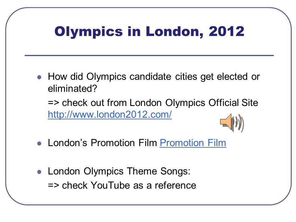 Olympics in London, 2012 How did Olympics candidate cities get elected or eliminated.