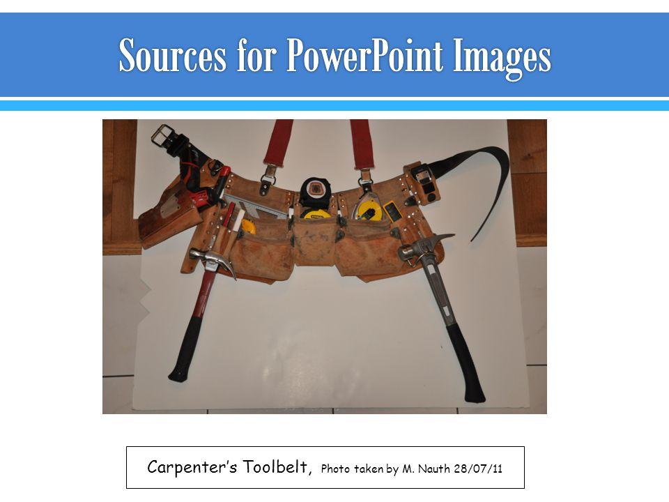 Carpenter's Toolbelt, Photo taken by M. Nauth 28/07/11