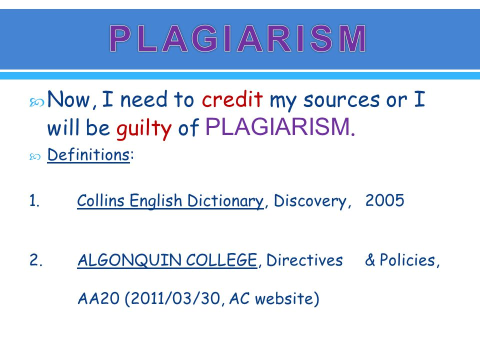 PURPOSE To document the penalties to be imposed for an act of plagiarism