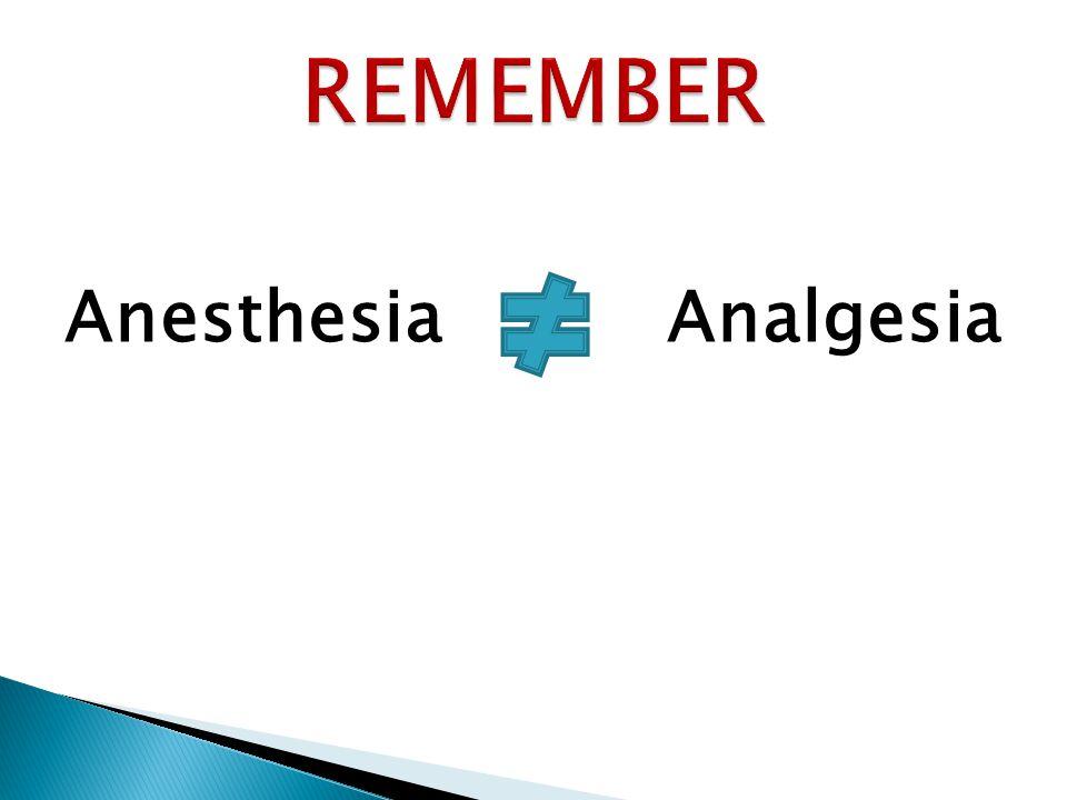 Anesthesia Analgesia