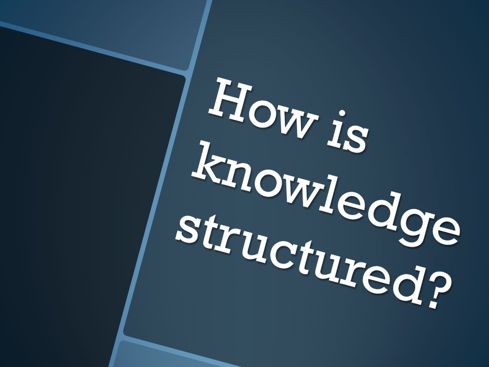 How is knowledge structured?