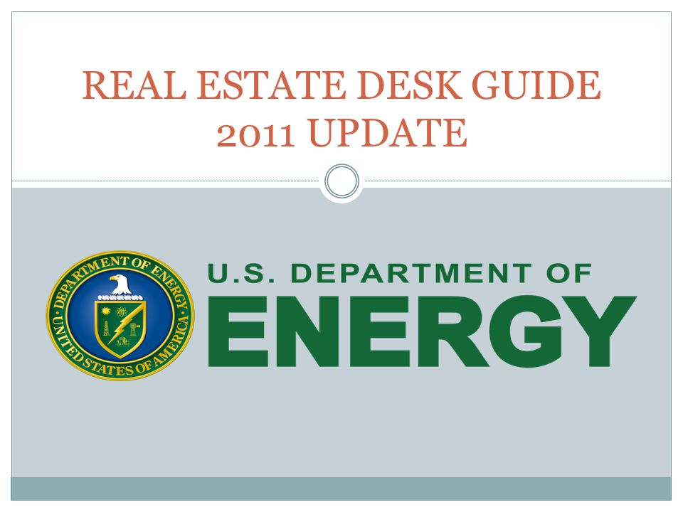 REAL ESTATE DESK GUIDE 2011 UPDATE