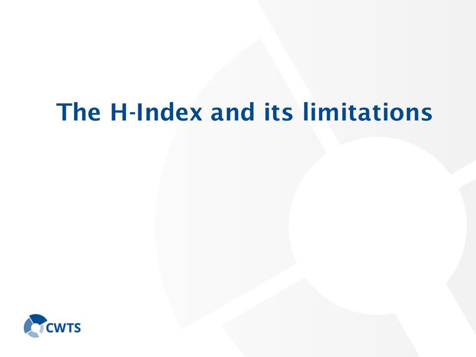 The H-Index and its limitations