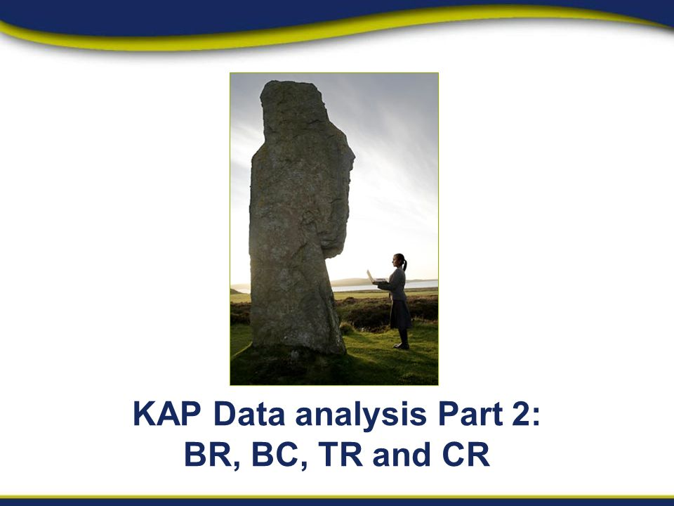 KAP Data analysis Part 2: BR, BC, TR and CR