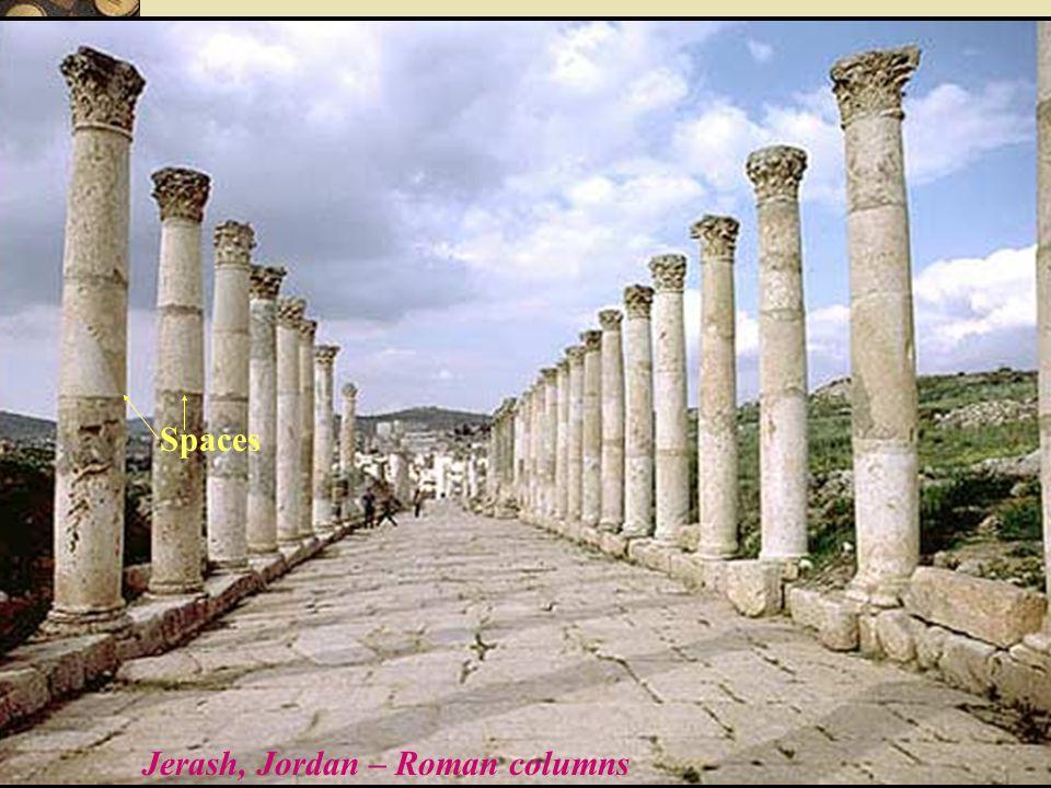 Jerash, Jordan – Roman columns Spaces