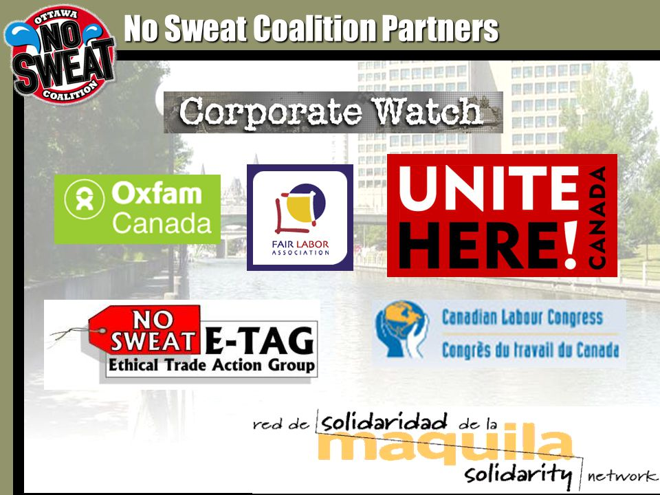No Sweat Coalition Partners