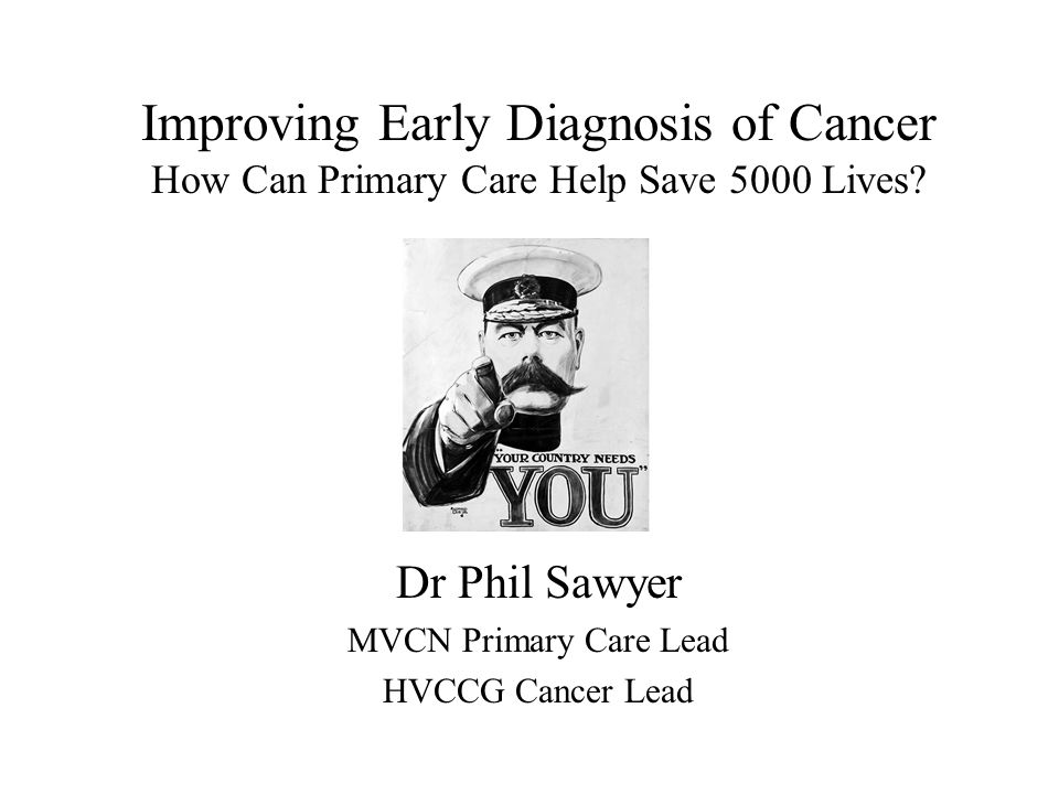 Improving Early Diagnosis of Cancer How Can Primary Care Help Save 5000 Lives.