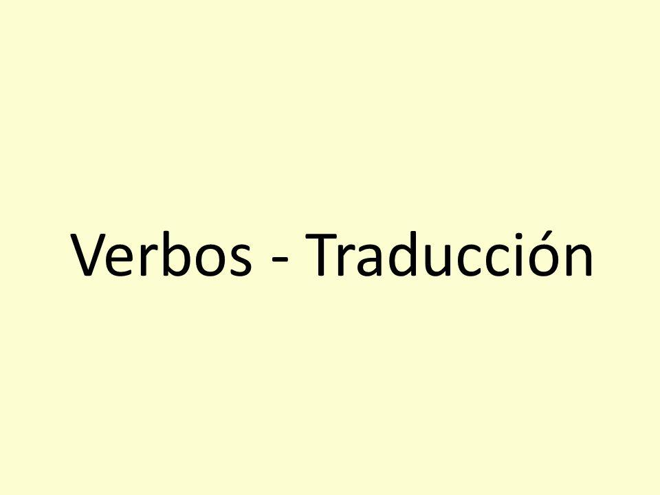 Verbos - Traducción