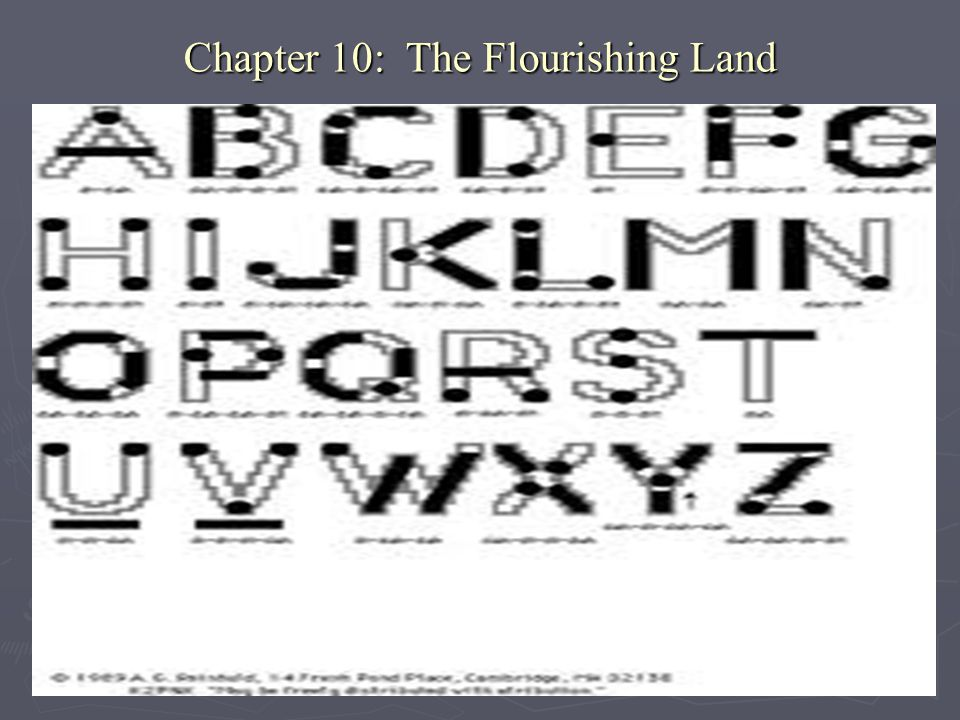Chapter 10: The Flourishing Land