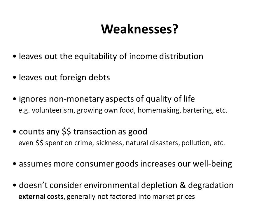 Weaknesses.
