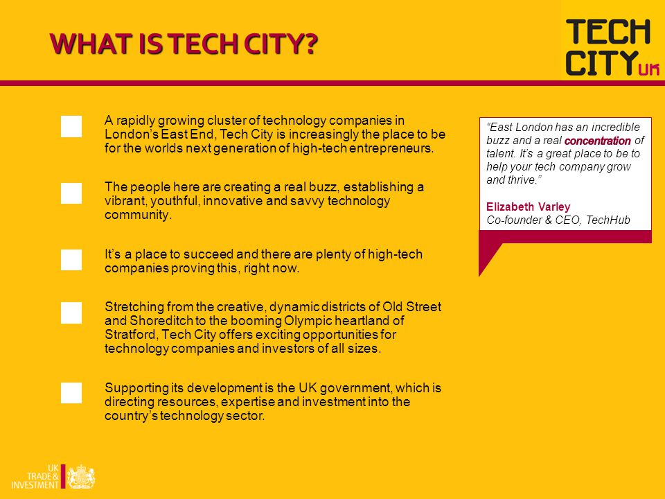 Tech City can help turn high-tech business ideas into reality.
