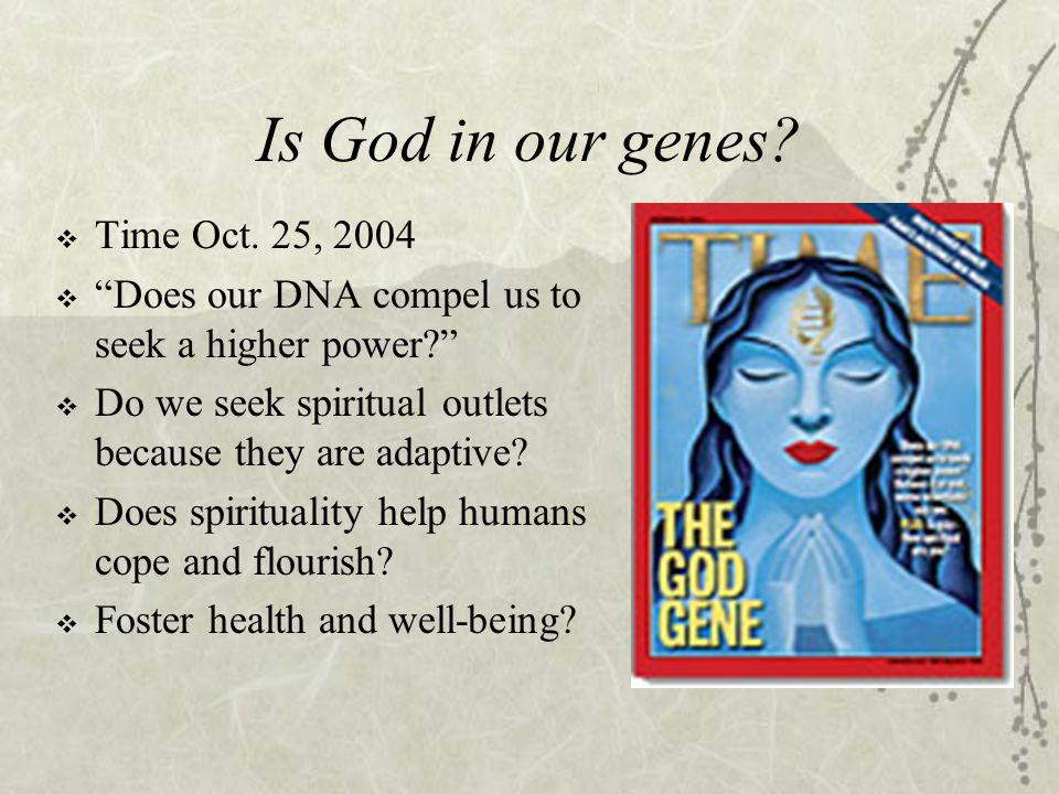 Buddhist Belief  Existence of a spirituality gene .