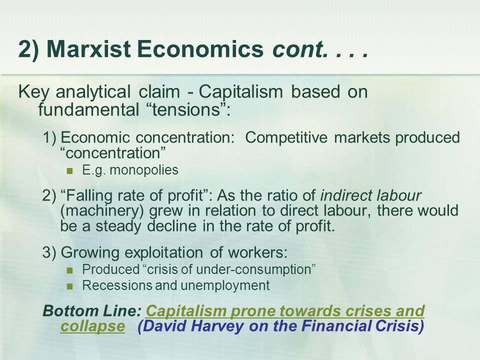 2) Marxist Economics cont....