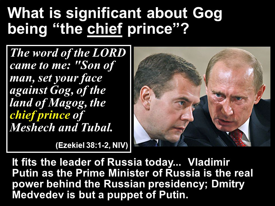 "What is significant about Gog being ""the chief prince""? The word of the LORD came to me:"