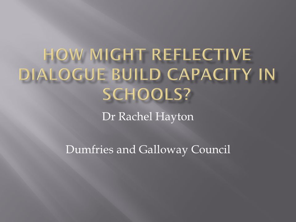 Dr Rachel Hayton Dumfries and Galloway Council