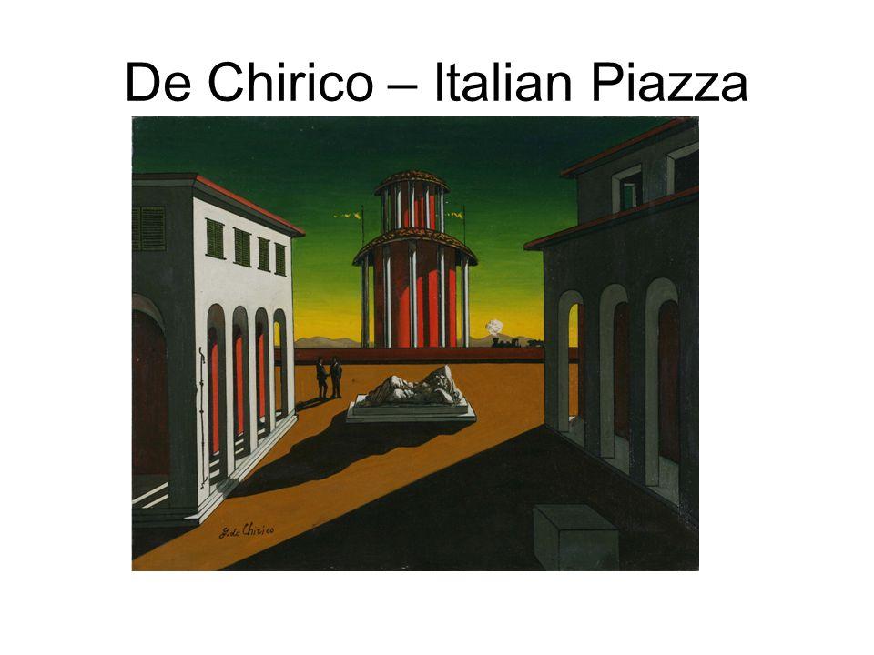De Chirico – Italian Piazza