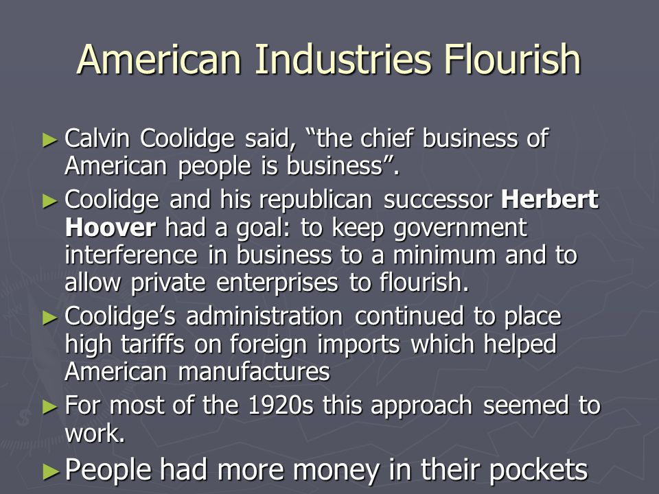 Chapter 12 Chapter 12 Section 3: Business of America