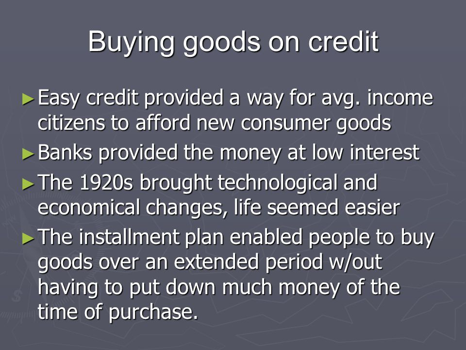 Producing Great Quantities of Goods ► Productivity increased, business expanded ► There were many merges of companies that manufactured automobiles, steel, and electrical equipment ► Chain stores sprouted, selling groceries drugs, shoes and clothes.