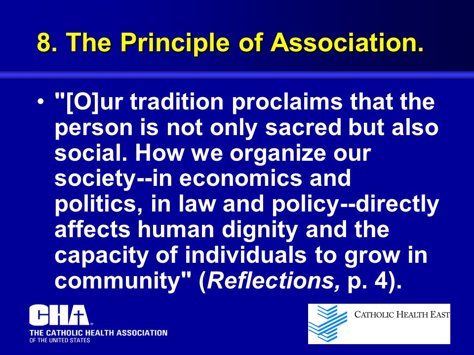 8.The Principle of Association.