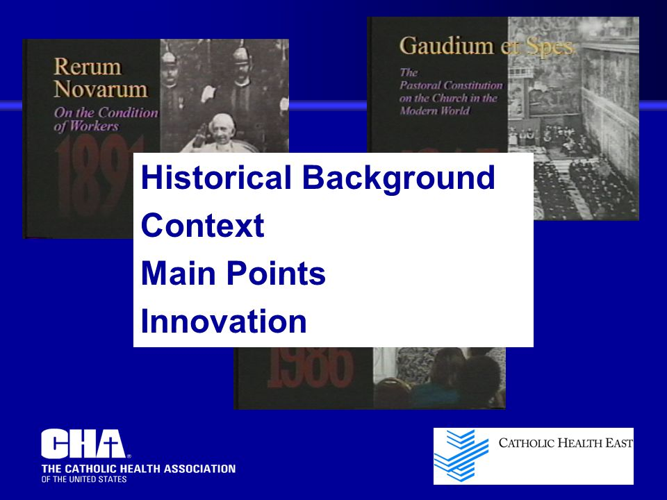 Historical Background Context Main Points Innovation