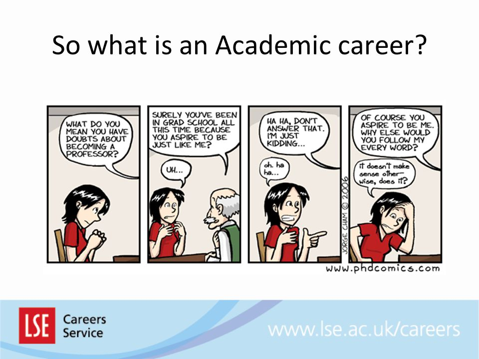 So what is an Academic career