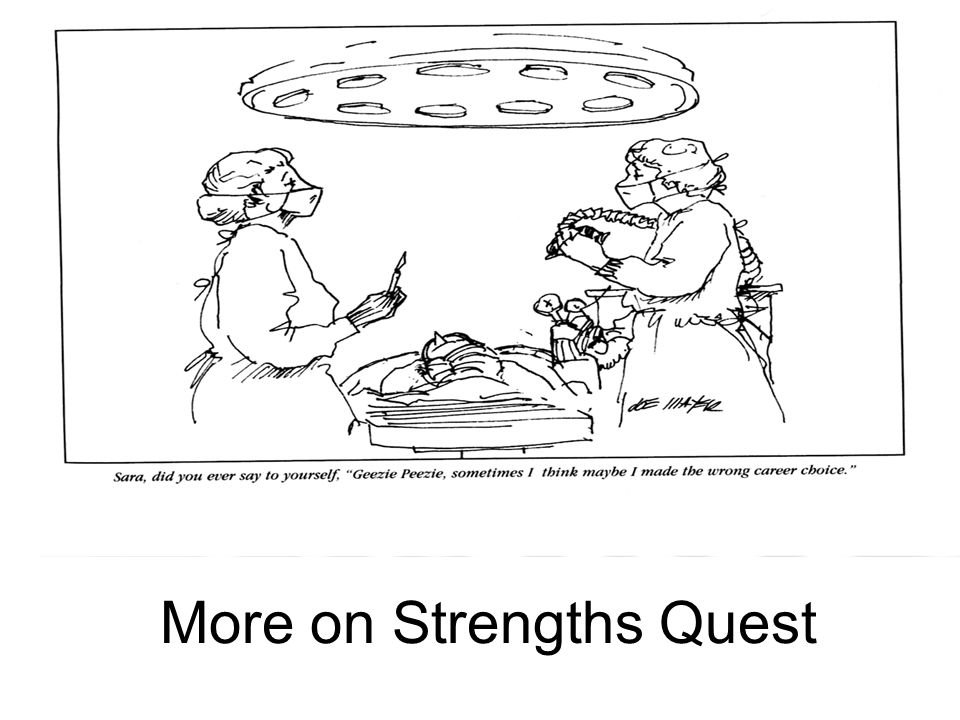 More on Strengths Quest