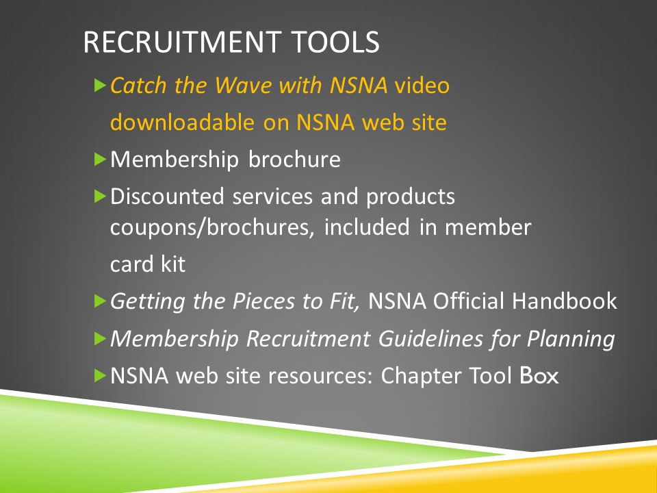 Start-a-Chapter Initiative NSNA Kit introductory letter State president follow up Staff follow up