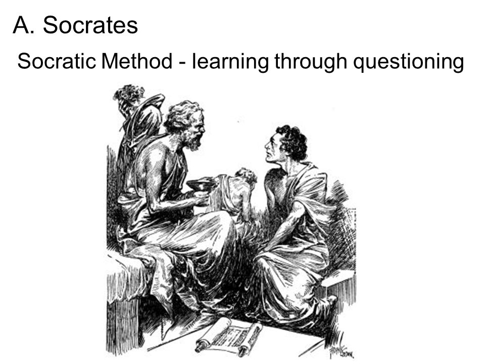 A. Socrates Socratic Method - learning through questioning