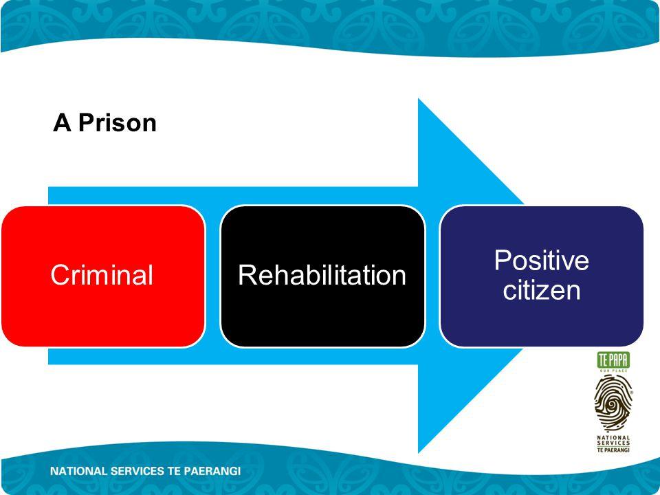 CriminalRehabilitation Positive citizen A Prison